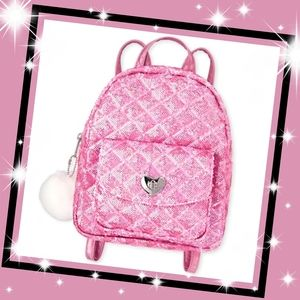Girls Sequin Quilted Mini Backpack